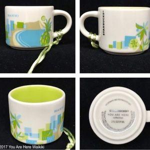 Waikiki Hawaii espresso mug coffee You are Here
